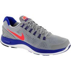 Nike Lunarglide+ 4: Nike Men's Running Shoes Wolf Gray/total Crimson/hyper Blue