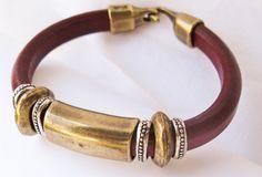 Leather Bangle Bracelet.