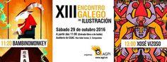 Encontro Galego de Ilustración 2016 en Santiago de Compostela. Ocio en Galicia | Ocio en Santiago. Agenda actividades. Cine, conciertos, espectaculos