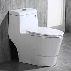 WOODBRIDGE Dual Flush Elongated One Piece Toilet with Soft Closing Seat Comfort Height Water Sense High-Efficiency Rectangle Button Pure White Improvement Safety Equipment-Gear Protection Ear Muffs Care Vacuums-Electric Brooms Improvement Fixtures Modern Toilet, New Toilet, Toilet Sink, Toilet Bowl, Pink Toilet, Toto Toilet, Traditional Toilets, Dual Flush Toilet, Comfort Design