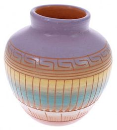 Traditional Vase - Native American Pottery by Navajo Artist C.J. KS73768