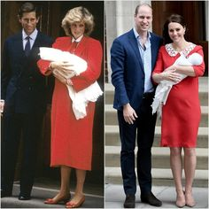 Princess Diana in 1984 and Kate Middleton in 2018