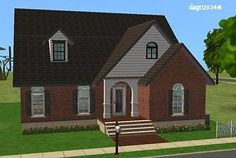 Mod The Sims - 3 Bedroom Starter, No CC | Traditional.  3BR, 1BA, open floor plan, unfinished 2nd floor.  Lot Size: 2x2.  Lot Price: $19,960.