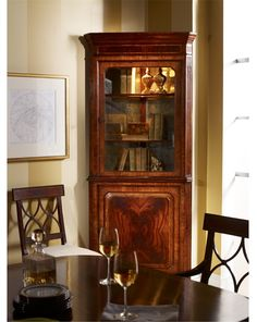 Tall Corner Cabinet JC Tall Corner Cabinet, Cabinet Decor, China Cabinet, Cupboard, This Is Us, Two By Two, Furniture Design, Shelves, Dining