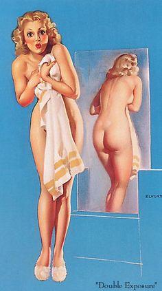"""Double Exposure"" by Gil Elvgren"