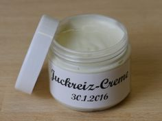 Juckreiz-Creme (against nagging itchiness caused by atopic dermatitis and other diseases which come along with dry skin)  I made it a few times now and it worked better than any expensiv product.