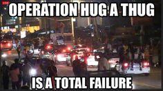 Hug a thug fail!