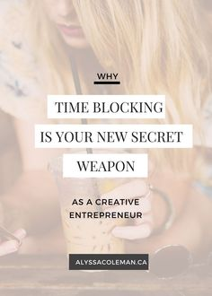Time blocking a secr