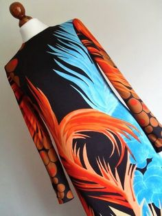 FRANCE . Op Art Queen . Maxi Dress Bright And by thingsofsplendor