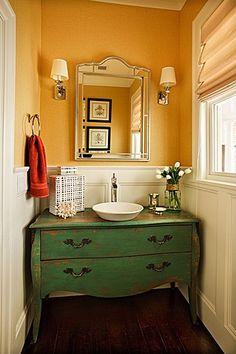 Custom Vanity Cabinet - from vintage dresser