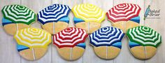 Beach Umbrella Cookies