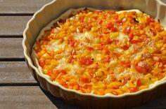 Tarte aux poivrons et mozzarella de ma tata