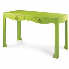 Jacqui Console or Desk in Spring Green