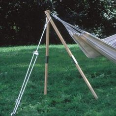 Wood hammock stand. No tree, no problem.