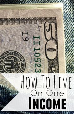 How To Live On One Income. Living on one income doesn't have feel impossible. Here are my tips to live on one income and not live paycheck to paycheck. #budget #moneytips