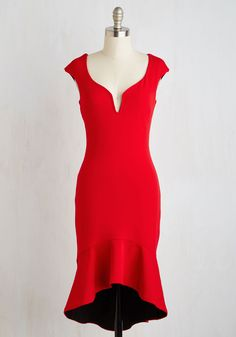 Clarinet the Air Dress in Rouge