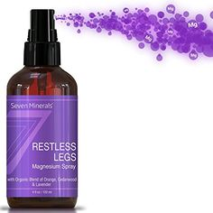 Restless Leg Syndrome Treatment Cramp Pain Relief Magnesium Chloride Oil Spray 100 Natural Organic Made in USA Free Guide Incl *** Check this awesome product by going to the link at the image. Therapeutic Essential Oils, Essential Oils For Headaches, Organic Essential Oils, Treatment For Restless Legs, Restless Leg Remedies, Pain Relief Spray, Magnesium Oil Spray, Headache Relief, Migraine Headache