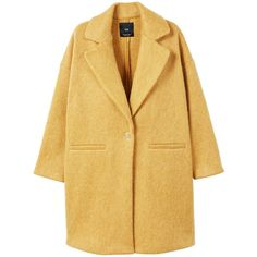 Unstructured Mohair-Blend Coat (10620 DZD) ❤ liked on Polyvore featuring outerwear, coats, jackets, beige coat, long sleeve coat, oversized coat, mango coats and fur-lined coats