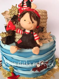 Cute pirates cake by Branka Vukcevic