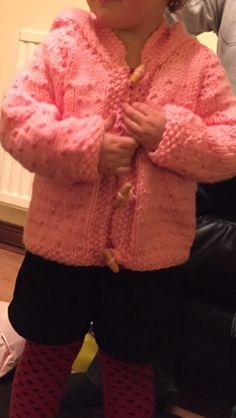 Girls hoodie I knitted for my great niece.