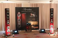 Enceintes Triangle Signature, amplification Mac Intosh