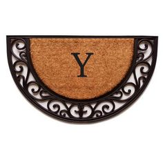 Home & More Plantation Monogram Doormat Letter: