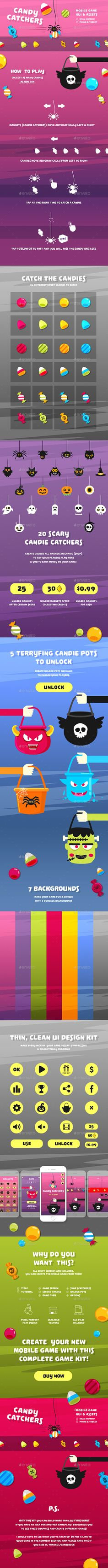 Candy Catchers Full Arcade Game Kit - Game Kits Game Assets