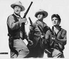 Rio Bravo : John Wayne, Dean Martin, and Ricky Nelson  -  FABULOUS