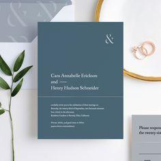 Foil Cornerside Wedding Invitation Suites from Paper Culture