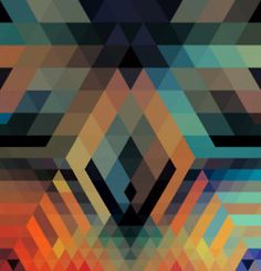 navajo graphic design print. I like the colors chosen also the geometric shapes that make up larger shapes