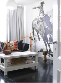 wall mural- black & white. loveee this!