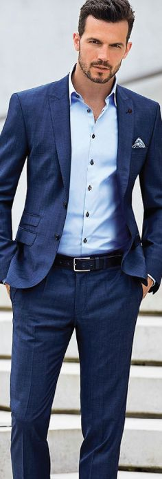 40 men 39 s fashion ideas to look more attractive summer for Blue suit shirt ideas