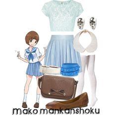 """Mako Mankanshoku"" by shelby-berti on Polyvore"