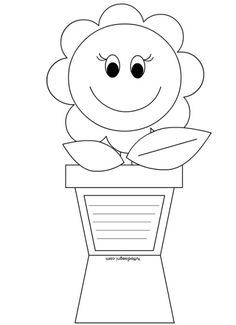 Mother's day card coloring page – Artofit Preschool Crafts, Diy Crafts For Kids, Spring Art, Mothers Day Crafts, 8th Of March, Kids Cards, Coloring Pages, Art Projects, Paper Crafts