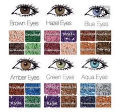 Eye shadow combinations according to eye color  https://www.youniqueproducts.com/CaitlinGraynorCosmetics