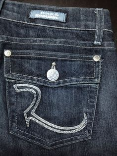 ROCK & REPUBLIC Jeans Stevie Women's 27 Dark Wash Flare Low-Rise Flap Pockets #RockRepublic #Flare by www.designerclothingfans.com