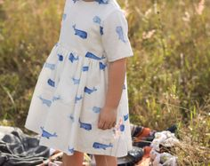 Blue Whale Dress // Free Shipping