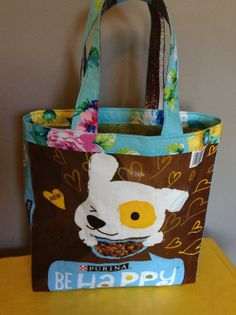 Refabulized upcycled handmade recycled pet food bag by aModernSpin