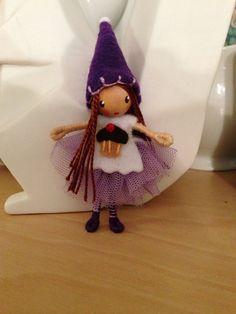 Waldorf style bendy doll happy birthday tutu girl