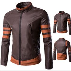 fd99ed83cc3a New Best Seller X Men Wolverine Origins Brown Movie leather Jacket XS to  6XL - Outerwear