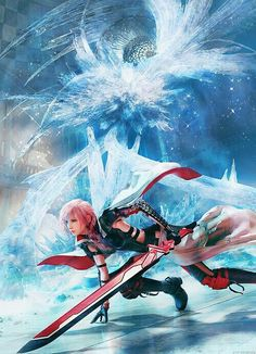 View an image titled 'Lightning Promo Art' in our Lightning Returns: Final Fantasy XIII art gallery featuring official character designs, concept art, and promo pictures. Final Fantasy Xv, Artwork Final Fantasy, Lightning Final Fantasy, Final Fantasy Characters, Fantasy Series, Fantasy World, Fantasy Rpg, Fictional Characters, Image Film