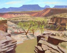 """Virgin River Overlook,"" Frank Ray Huff, Jr., oil"