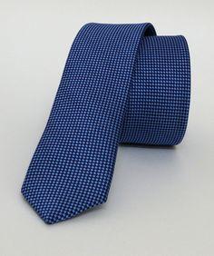 Dotted Blue Mens Tie 4 cm (1,57 #handmadeatamazon #nazodesign