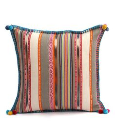 This Beige & Blue Stripe Throw Pillow by Karma Living is perfect! #zulilyfinds