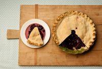 blueberry pie Blauwe bessen taart