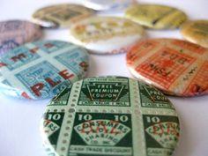 Magnets // Vintage Grocery Stamps
