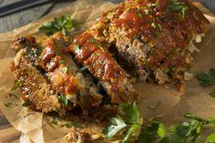 Fašírka One Pound Meatloaf Recipe, Meatloaf Recipes, Beef Recipes, Cooking Recipes, Cooking Rice, How To Make Meatloaf, Best Meatloaf, Guacamole, Bon Appetit
