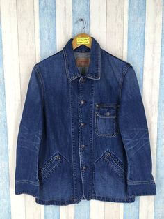 Vintage 90 s LEVIS STRAUSS Denim Jacket Mens Medium Vintage Levis Jeans  Workwear Usa Levis Blue Denim Labour Worker Style Jacket Size M a36eaa04db05