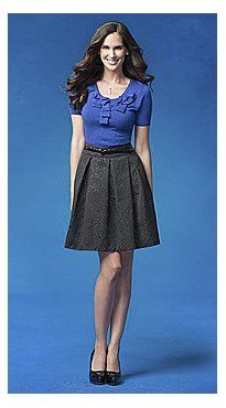 New York and Company - Black Pleated Jacquard Skirt $59.95