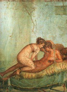 *POMPEII, ITALY ~ Erotic scene. House of the Centenary. Pompeii, Italy.